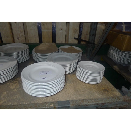 3032 - 46 small white side plates and a quantity of saucers by Steelite type Alvo Distinction