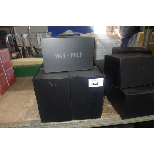 3038 - 10 unused boxed war-prep, meal preparation boxes/lunch boxes with cool bag