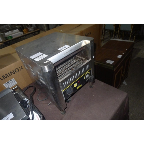3059 - A stainless steel conveyor toaster by Buffalo -  240v trade