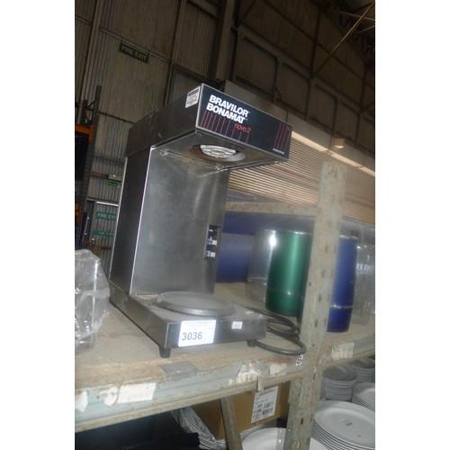 3036 - A Bravilor Bonamat novo 2 coffee percolator (no filter or jug), 2 x stainless steel chopping board s...