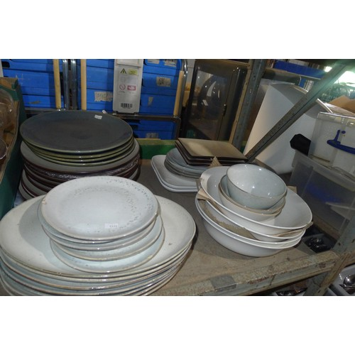 3051 - A quantity of various catering related items including baking trays, pots, pans stainless steel teap...