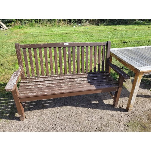 3403 - A 3 person wooden garden bench