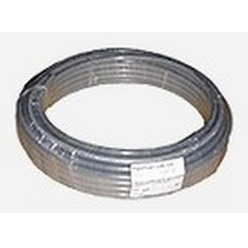 13 - 1 x 50m roll of grey plastic barrier pipe by Pipeplus type Midi Composite 22mm x 2mm