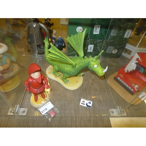 2118 - 2 x Mr Benn figurines from the Robert Harrop collection - the Red Knight and the dragon