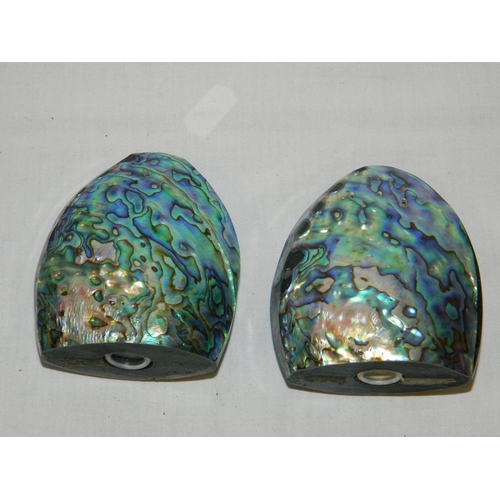 101 - Abalone mother of pearl condiment set...