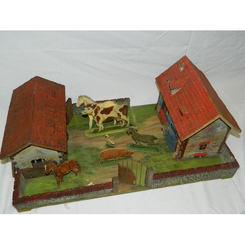 120 - Childrens vintage farmyard including animals...