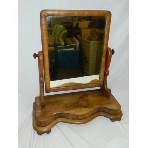 127 - Victorian ash dresser top mirror...