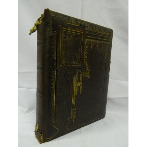 13 - Late Victorian album, illustrated in colour with photographs and postcards...