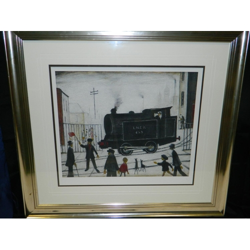 133 - World Ltd Edition L.S.Lowry framed 'Gouttelette' titled 'Level Crossing' with framed certificate [no...