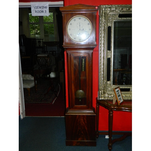 138 - Victorian longcase regulator Buchanan of Denny clock...
