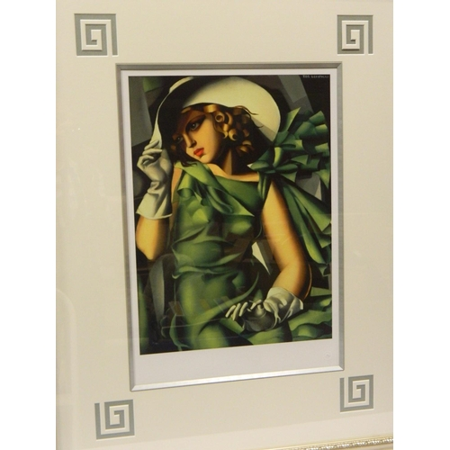 145 - World Ltd Edition Tamara de Lempicka framed 'Gouttelette' titled 'Young Lady with Gloves' with frame...