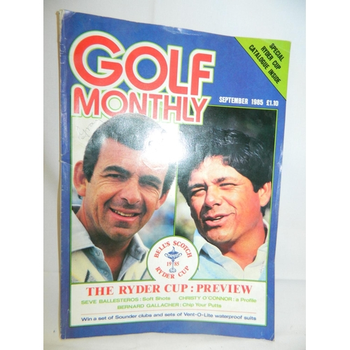 151 - Golf monthly magazine featuring the Ryder Cup preview dated 1985...