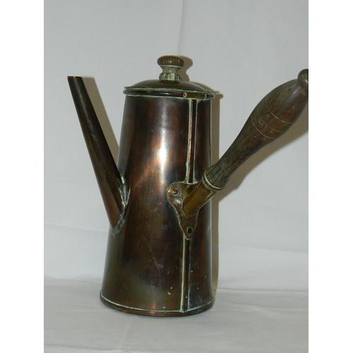 175 - Victorian copper chocolate pot...
