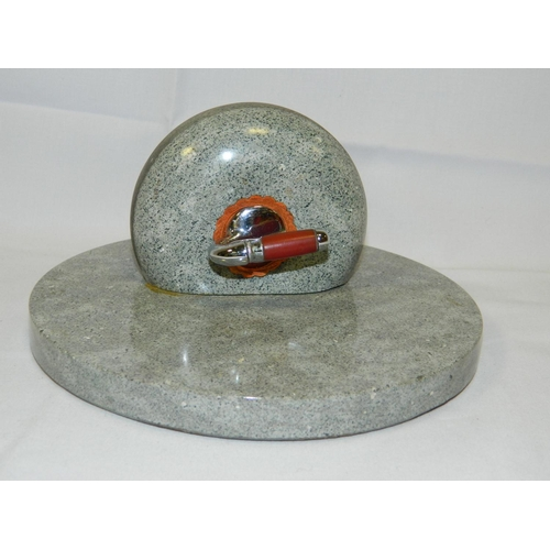 186 - Curling stone desk ornament...