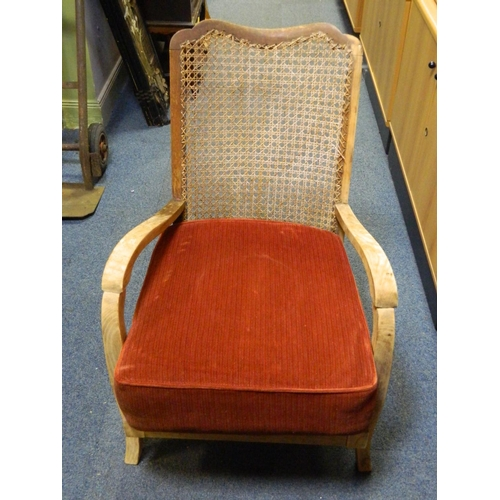 201 - Vintage wicker armchair...