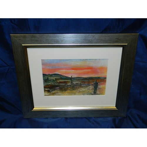 206 - Claire Blyth framed watercolour of Netherdale, Galashiels...