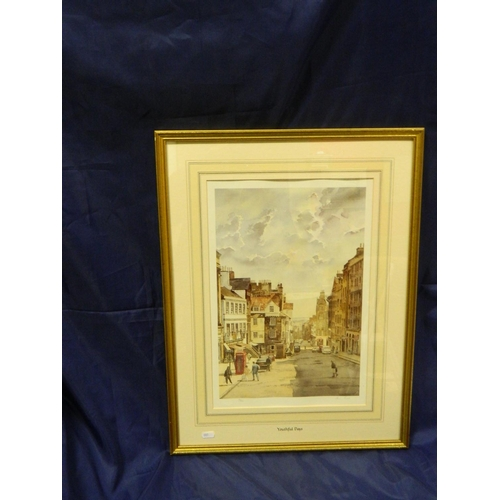 207 - Alan Reed, popular Newcastle artist, signed limited edition print 'A view of Royal Mile and John Kno...