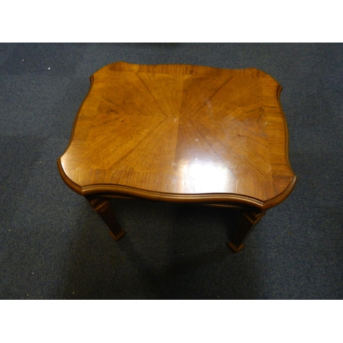 214 - Small square oak style occasional table...