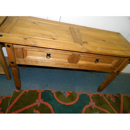 216 - Carona long sidetable with 2 drawers...