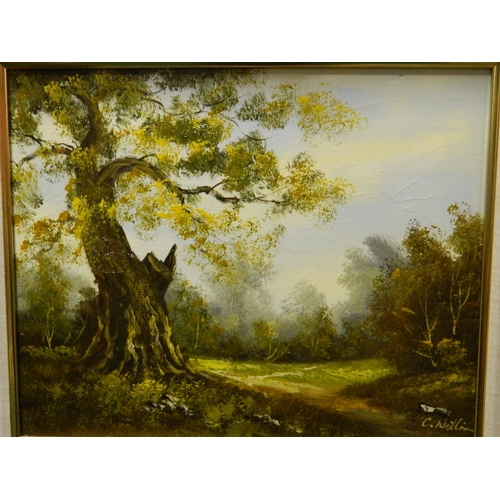 219 - Folland framed print on board...