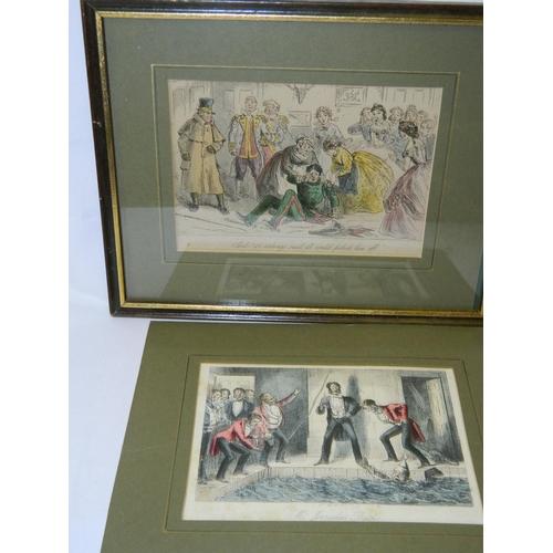 220 - 2 Framed Victorian cartoons from publication 1890's...