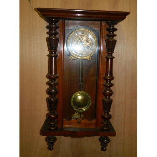 223 - American wall case clock...