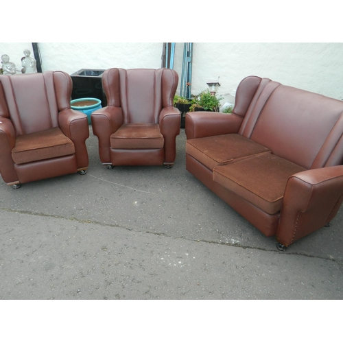 248 - Retro original PVC suite ( 2 chairs and 2 seater couch) in very good condition...
