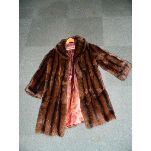 250 - 3/4 Length fur coat...