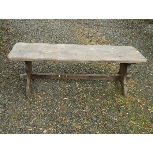 268 - Vintage pine school bench...