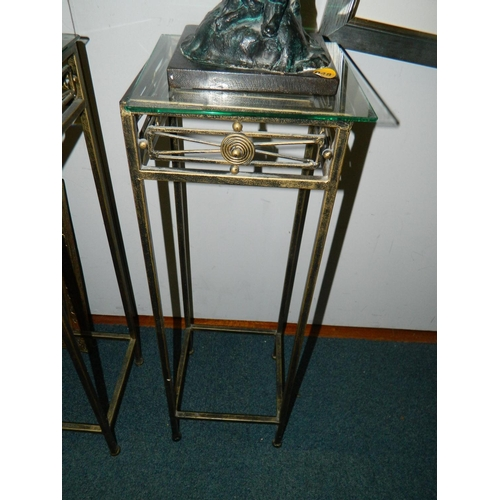 270 - Art deco style metal floor stand approx 1m Tall...