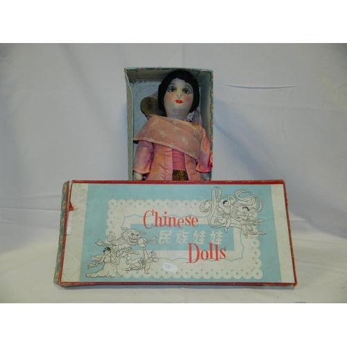 28 - circa 1950's Chinese doll in original box...