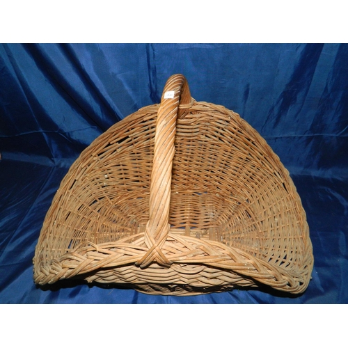 286 - Large wicker log basket 65cm long...