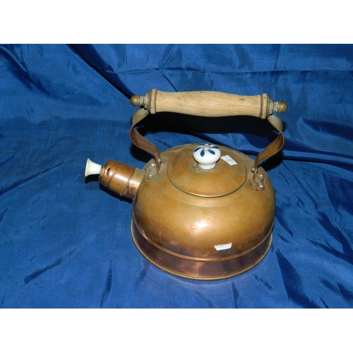 299 - Vintage stove top copper kettle...