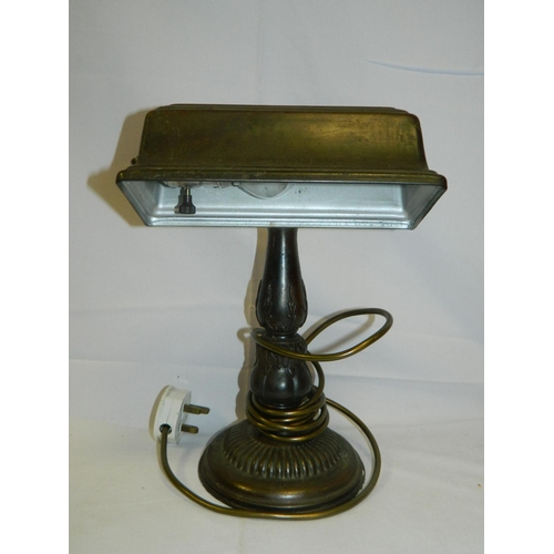 30 - Edwardian desk lamp (recently rewired)...