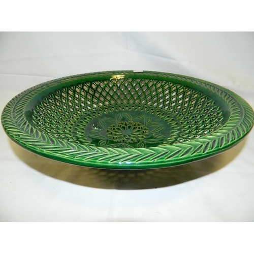 310 - Green basketware porcelain bowl...
