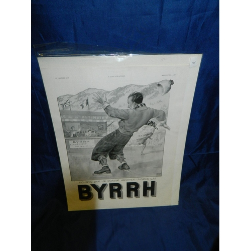 332 - 'Byrrh' advertising poster [40x30]cm...