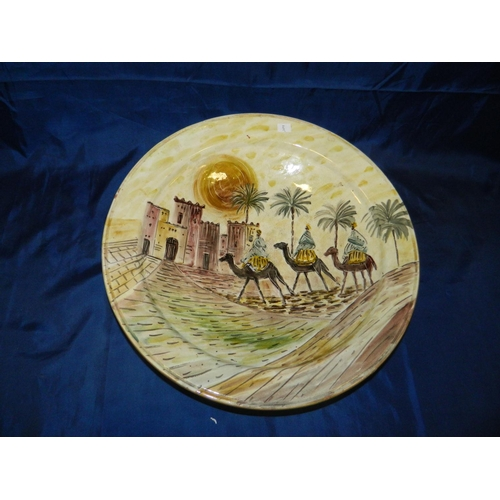 333 - Large bowl with North African scene...