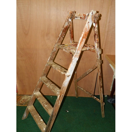 340 - Wooden step ladders...