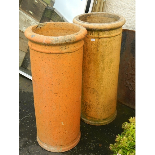 347 - 2 Victorian chimney pots [ideal garden planters]...