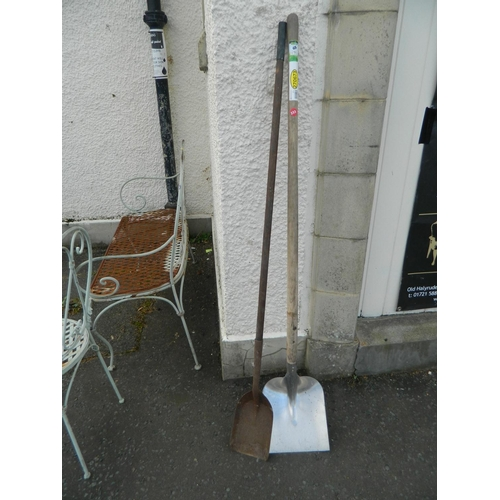 349 - 2 Long handled shovels...
