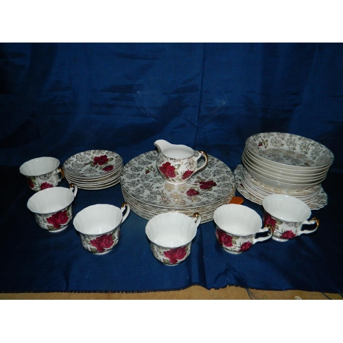 350 - 6 Piece fine bone china tea set...
