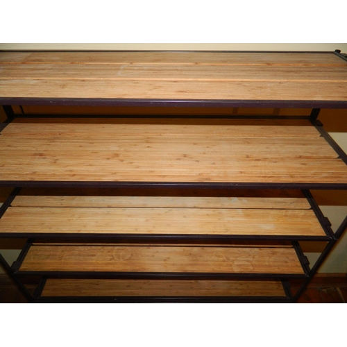 373 - 8 Shelf racking unit with wooden shelves...