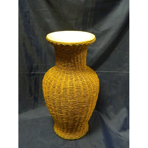 380 - String covered large vase...