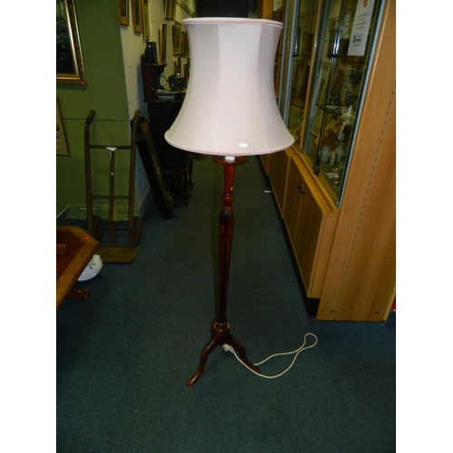 393 - Floor standard lamp candle effect top with shade...