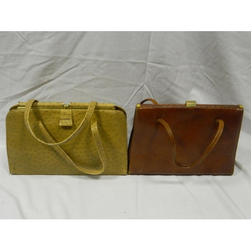 395 - Vintage alligator skin handbag and other handbag...