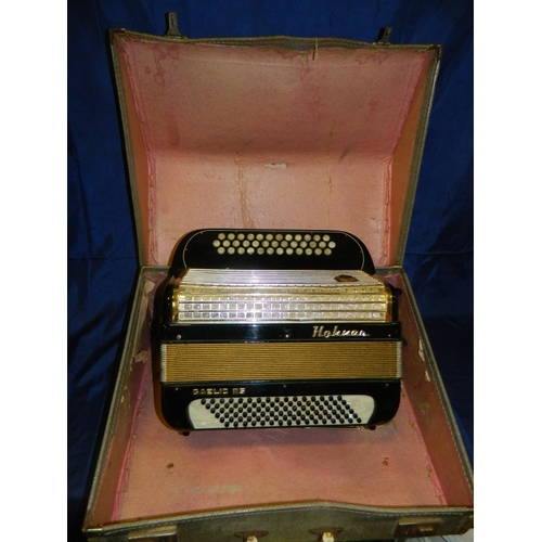 4 - Hohner 'Gaelic 115' cased accordian...