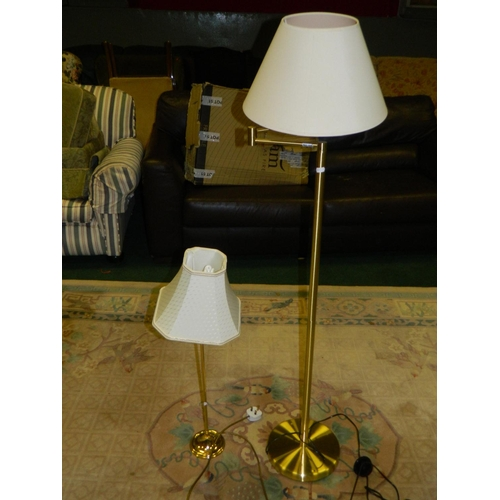 408 - Brass effect lamps...