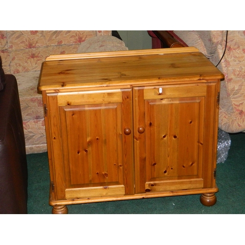 413 - Pine 2 door cabinet...
