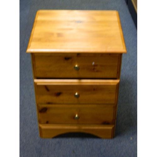 417 - Pine bedside cabinet...