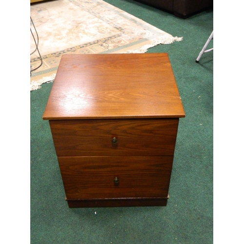 418 - M&S 2 drawer wooden filing cabinet...